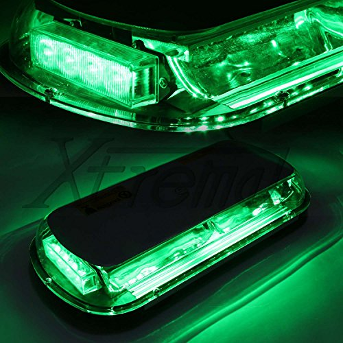 Xtreme® Green 44 Led High Intensity Law Enforcement Emergency Hazard Warning Flashing Car Truck Construction Led Top Roof Mini Bar Strobe Light With Magnetic Base