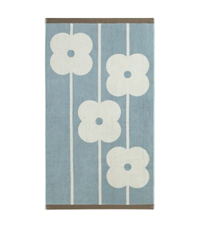 Orla Kiely Flower Abacus Bath Towel, Duck Egg