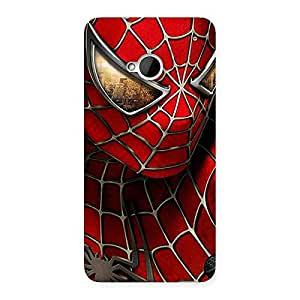 Impressive Spide Two Red Back Case Cover for HTC One M7
