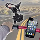 SAVFY� Universal Bike Bicycle Mount Holder Support Stand Handlebar 360 Degree Rotation for Most Cell Phones - The HTC One, Samsung Galaxy S5/S4, Sony Xperia Z, iPhone 5C 5S 4S Google Nexus 4 5 Moto G Phone Samsung Galaxy S3, Note 2, Lumia 520 HTC One S, Lumia 920 (Maximum Width 85mm)