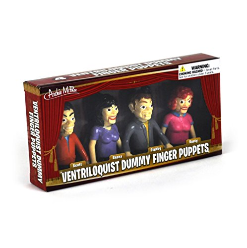 Ventriloquist Dummy Finger Puppets - Set of 4