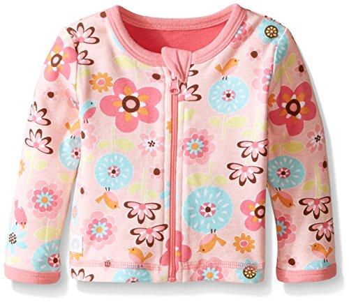 Boppy Girls' Reversible Cardigan, Pink, 3 Months