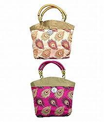Kuber Industries Women's Handbag 2 Pcs Set (Multicolor,Fhb103)