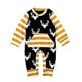 Bigban Newborn Baby Long Sleeve Clothes Bodysuit Romper Jumpsuit Playsuit Outfits (3-6 Months)