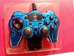 Micro Controller for PS2 Playstation 2 Brand New Clear Blue PS 2 Controller