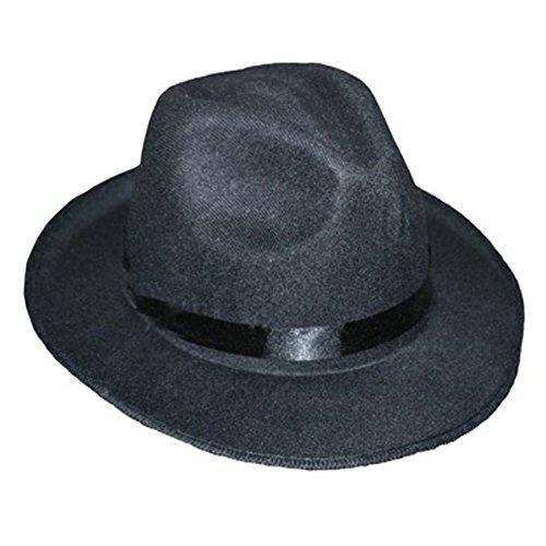 Felt Black Ganster Hat