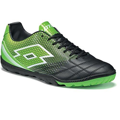 lotto-spider-700-xiii-tf-botas-de-futbol-para-hombre-negro-verde-blk-mint-fl-45-eu