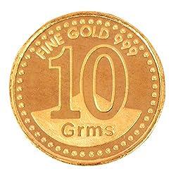 A.Himanshu 10 gm, 24k (999) Yellow Gold Precious Coin