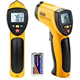 [2015 Upgraded] Dr.Meter® IR-20 Indoor / Outdoor Wireless Non Contact Digital Infrared (IR) Thermometer Gun with Holster, Range of -58°F to +1,022°F (-50°C -- +550°C); A MODE Button (MAX/MIN hold Function); Battery Included; 12-Month Warranty