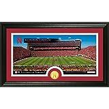 """NCAA Nebraska Cornhuskers Stadium Coin Panoramic Photo Mint, 22"""" X 15"""" X 4"""", Bronze"""