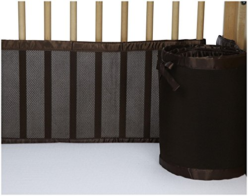 BreathableBaby Mesh Crib Liner- Bison Brown - 1
