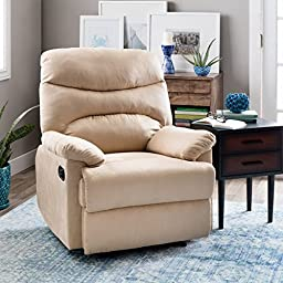 Tucker, ( Camel ) Rest And Relax In Style And Comfort With This Recliner Chair.
