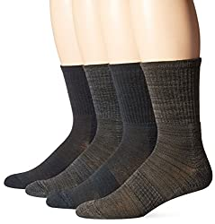 Field & Stream Men's Freerun Outdoor Crew Socks, Denim, 10-13 (Pack of 4)