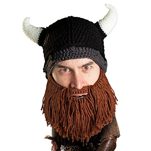 Beard Head® - The Original Barbarian Looter Knit Beard Hat (Brown)