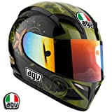 AGV T-2 Warrior Motorcycle Helmet Black Medium AGV SPA &#8211; ITALY 0351O2A0015007