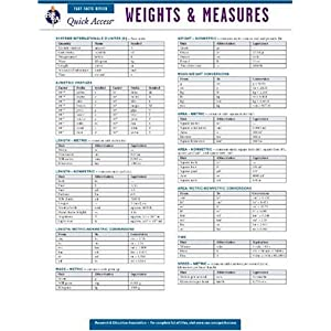weight and measurement charts
