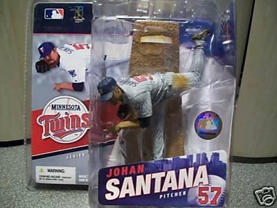 Johan Santana #57 Grey Gray Pinstripe Uniform Chase Alternate Variant McFarlane MLB Series 15 Action Figure