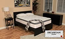 Hot Sale DreamFoam Bedding Ultimate Dreams Pocketed Coil Ultra Plush Pillow Top Mattress, Twin