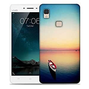 Snoogg Empty Boat Under The Dusk Sky Designer Protective Phone Back Case Cover For Vivo V3 Max