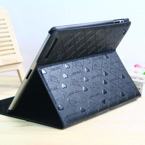 【全5色】iPad+2+ケース スタンド機能付 ベアデザインレザーケース+ブラック+Leather+Case+for+iPad+2+保護液晶フィルム付+(1525-5)