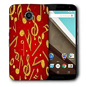 Snoogg Golden Music Printed Protective Phone Back Case Cover For LG Google Nexus 6