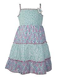 Soul Fairy Girls' Dress (SS16-DRSFRL-014_Fresh Blue_5-6 Years)