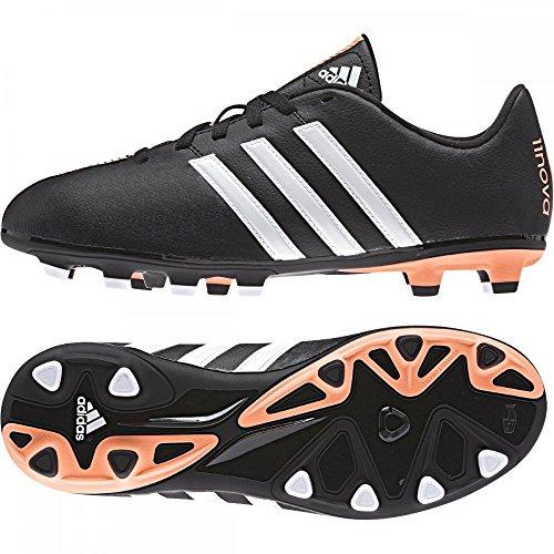 Adidas 11nova Bambini Nero Arancione Firm Ground Scarpe Da Calcio b40159, Bambino, Black/Orange, UK 5.5 EU 38 2/3