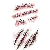 一時的なタトゥー ステッカー傷偽黒星病血液特殊メイク装飾と入れ墨