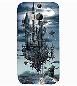 ColourCraft Flying Castle Design Back Case Cover for HTC ONE M8