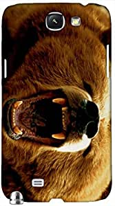 Timpax Protective Hard Back Case Cover With access to all controls and ports Printed Design : An angry bear.Compatible with Samsung Galaxy Note 2