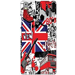 Lenovo A7000 PA030023IN Back Cover - England Designer Cases