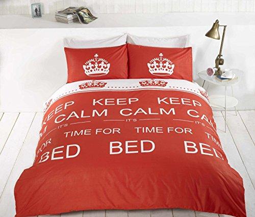 Keep Calm Red Usa Queen (230Cm X 220Cm - Uk King Size) Teenager Reversible Cotton Blend Duvet Comforter Cover Set *Rh* front-980681