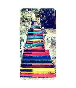Colourful Stairway Gionee Marathon M5 Case