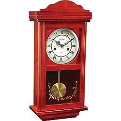 Beautiful Kassel 15 Day Wood Wall Pendulum Clock with Glass Front