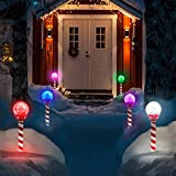 6pk LED Solar Pathway Lights Christmas Crackle Color-Changing Holiday Landscape