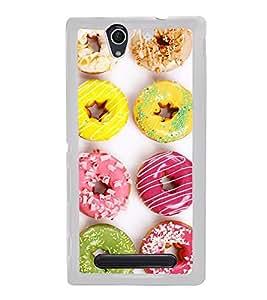 Assorted doughnuts 2D Hard Polycarbonate Designer Back Case Cover for Sony Xperia C4 Dual :: Sony Xperia C4 Dual E5333 E5343 E5363