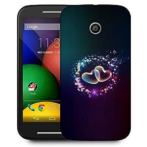 Snoogg Couple Of Hearts Designer Protective Back Case Cover For Motorola Moto E
