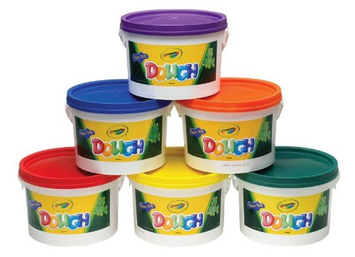 Crayola Non-Toxic Reusable Modeling Dough - 3 lbs - Set of 6 - Red