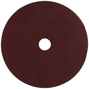 "Glit 11524 TN Polyester Blend Maroon Wood Surfacing Pad, Synthetic Blend Resin, Aluminum Oxide Grit, 24"" Diameter, 175 to 350 rpm (Case of 10)"