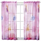 (1)- Disney Princess Sheer Window Panel Drape - 42x63