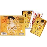 Klimt: Adele and The Kiss Playing Cards, two decks by Piatnik