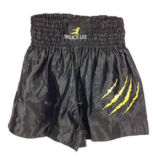 Bruce Lee Kick - Pantaloncini, Unisex, Kickbox Shorts NEU, nero, L
