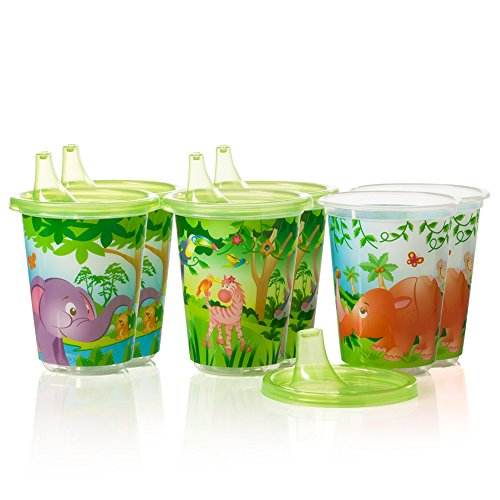 Evenflo Feeding Zoo Friends Convenience Sippy Cups, 10 Ounce - 1