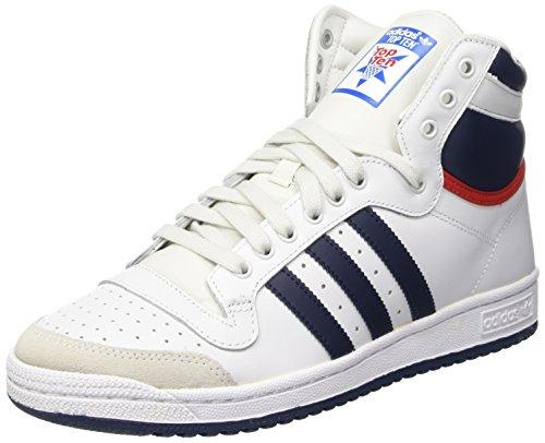 adidas Top Ten Hi, Herren Hohe Sneakers, Weiß (Neo White S08/New Navy Ftw/Collegiate Red), 42 EU (8 Herren UK)