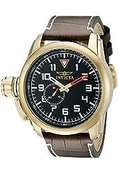 Invicta Men's 20462SYB Aviator Analog Display Quartz Brown Watch
