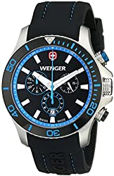 Wenger Men's 0643.103 Analog Display Swiss Quartz Black Watch