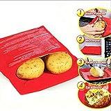 SMYLLS Microwave Baked Potato Bag-2 Pack (Red)
