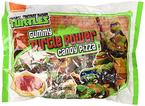 Teenage Mutant Ninja Turtles Gummy Turtle Power Candy Pizzas - 25 Pcs, 8.88 oz (Ninja Turtles Candy compare prices)