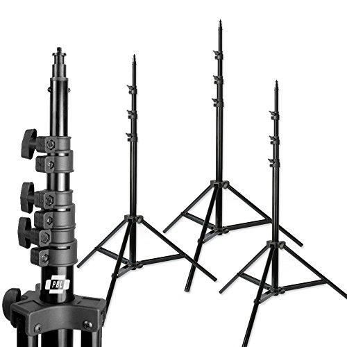10ft Photo Studio Heavy Duty Light Stands Set of 3 Air cushioned Steve Kaeser (Light Stand 10 Feet compare prices)