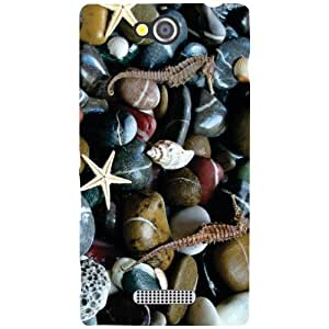 Sony Xperia C Back cover - Countless Pebbles Designer cases